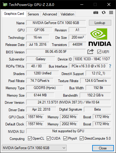 NVIDIA GeForce 397 31 driver installation failed  GTX 1060 is
