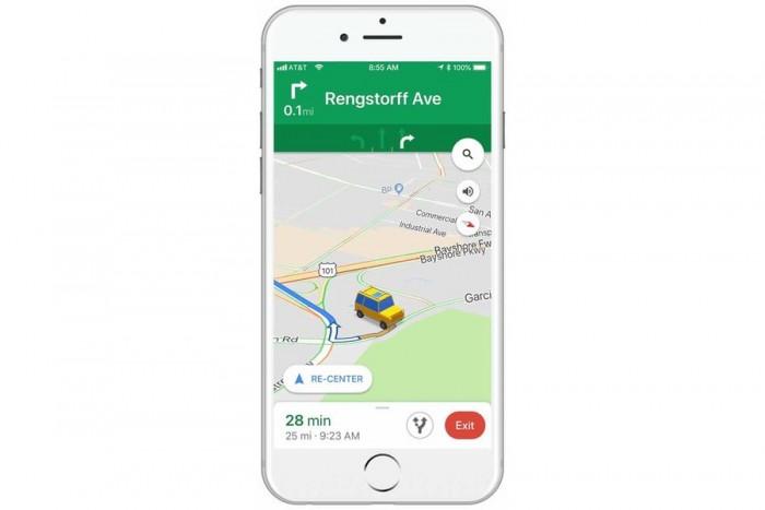 IOS terminal Google Maps update: Classic navigation arrows