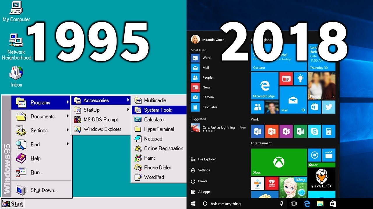 Windows 95 was made into an app and we experienced it on the