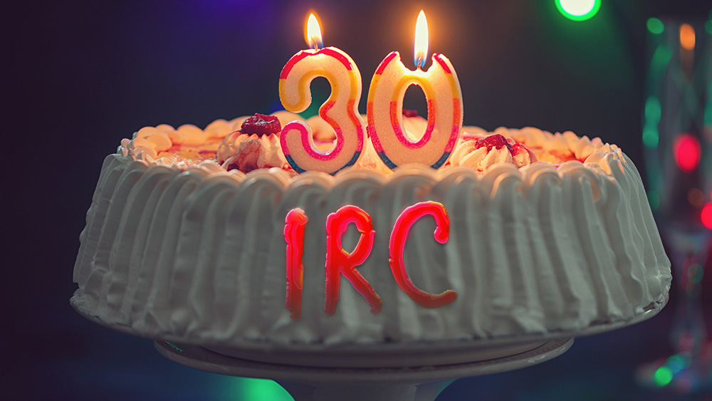 The open source Internet chat service IRC is 30 years old