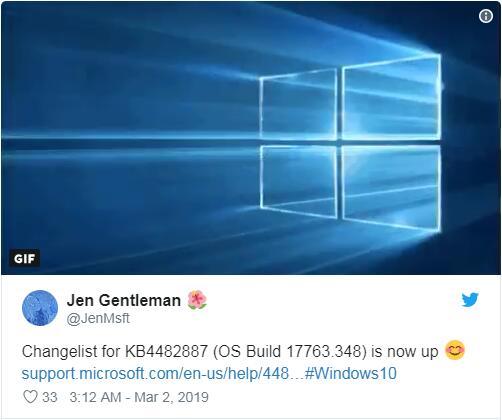 Windows 10 1809 ushered in KB4482887 cumulative update to