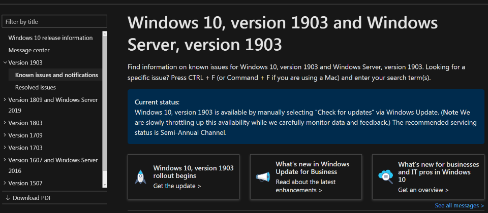 Windows 10 1903: Installation update causes downtime, Wi-Fi, and