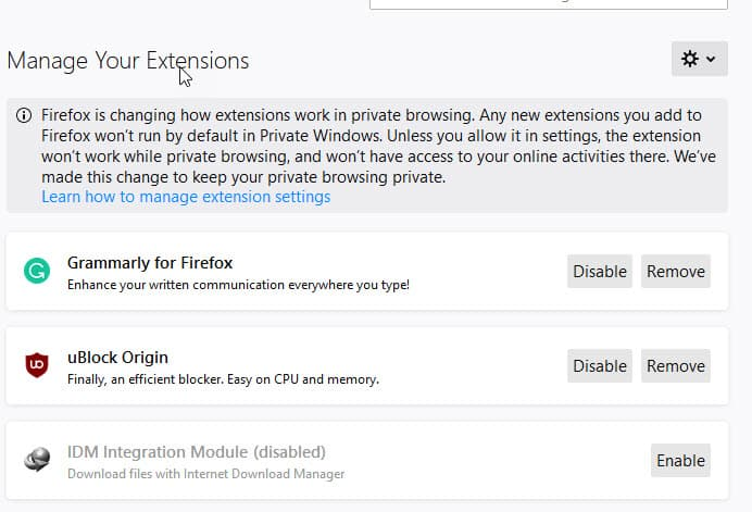 Firefox Download Settings