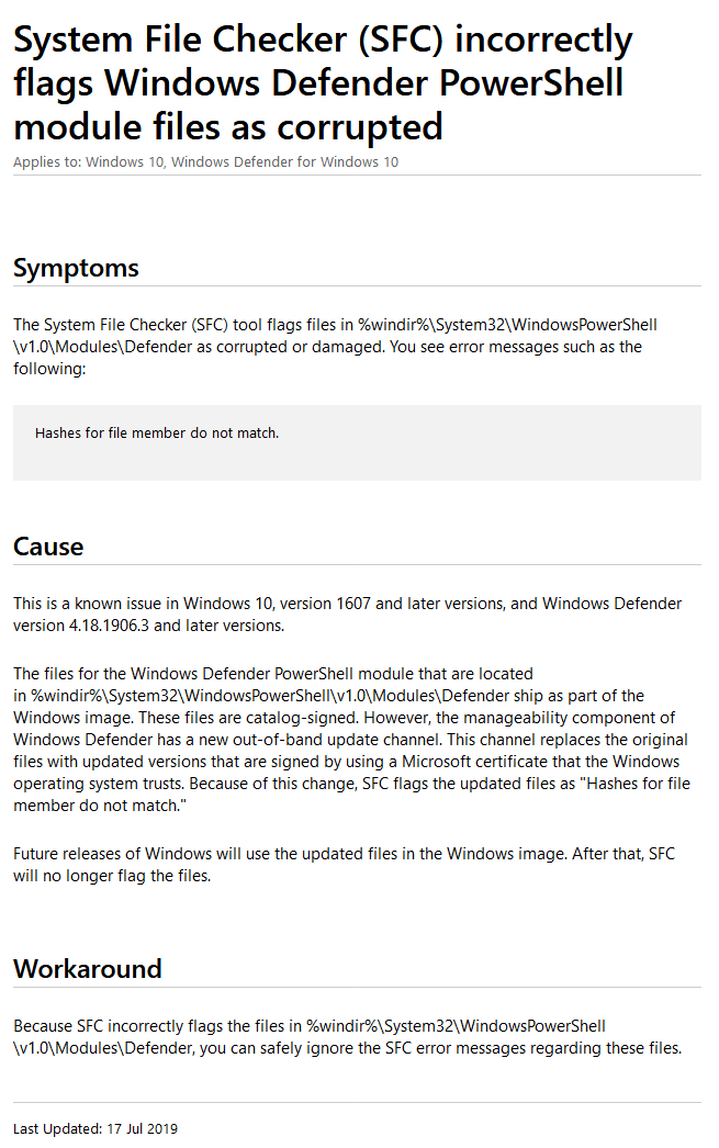 System File Checker Windows 10