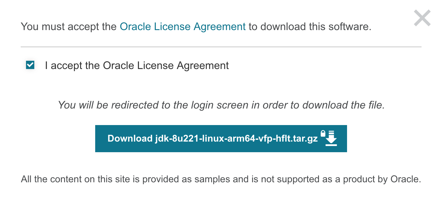 Oracle's latest modification of JDK download requirements
